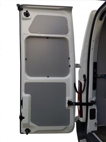 Achterdeurpanelen, 6.5 mm. Grijs gelakt multiplex