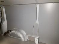 Laadruimte betimmering H1, multiplex 6 mm. Standaard lichtgrijs gelakt