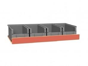 Set kunststof bakken voor Pro Wood kast type 2 legbord L=890 mm.