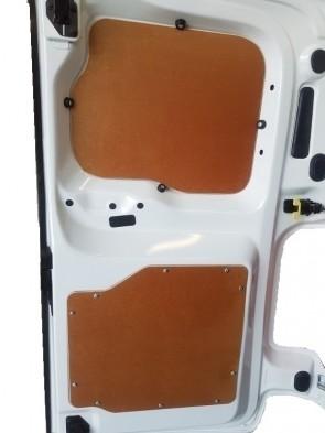 Achterdeurpanelen, 6.5 mm. Bruin gelakt multiplex